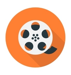 Film reel flat icon vector image