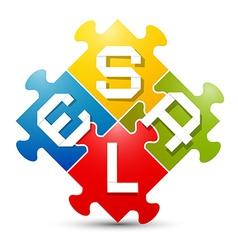 Sale Colorful Puzzle vector image