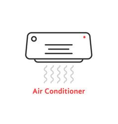 thin line air conditioner icon vector image