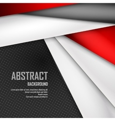 Abstract background of red white and black vector image