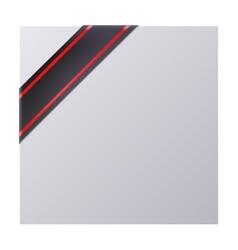 Black mourning corner ribbon vector image