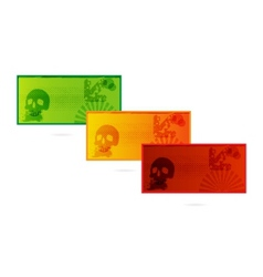colored cards set grunge style isolated vector image