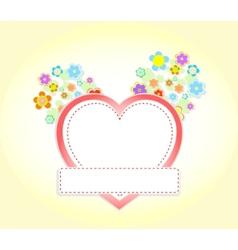 floral heart wedding vector image vector image