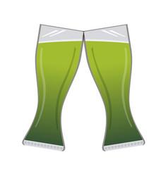 pair of beer glasses vector image