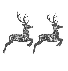 Vintage Christmas typographic greeting vector image
