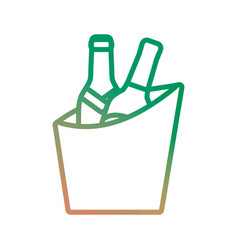 Bucket with drinks icon vector