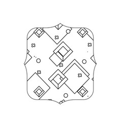 Line quadrate with geometric style graphic vector
