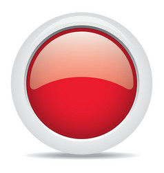 popular red color web button 3d vector image
