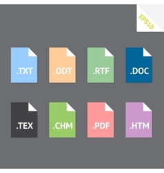 Text file formats vector image