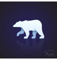 Abstract logo polar bear vector image vector image