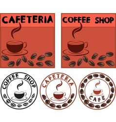 Cafe banner vector