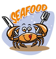 cute crab mascot vector image vector image