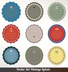 Frame labels Set ornamental vintage decorat vector image