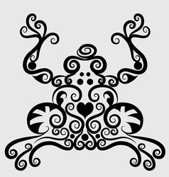 Frog decorative vector image