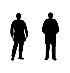 men silhouette on white background vector image