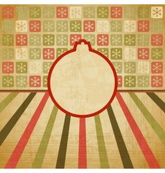Retro Christmas Bauble Background vector image vector image