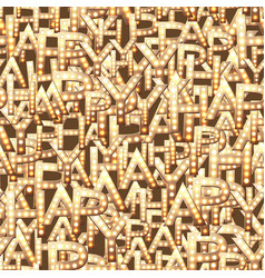 a pattern letters from word happy old vector image