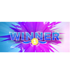Abstract bright background winner theme vector