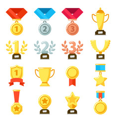 achievement award achiever trophy achievements vector image