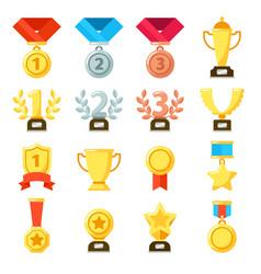 achievement award achiever trophy achievements vector image