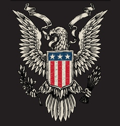 American Eagle Linework vector image