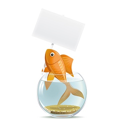 Aquarium fish blank vector