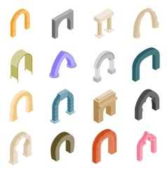 Arch set icons vector image