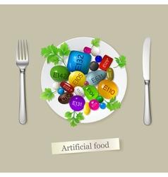 Artificial food vector