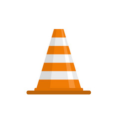 attention cone icon flat style vector image