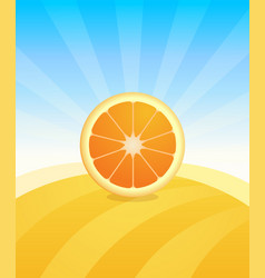 banner template with orange - fruit trade poster vector image