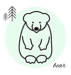 bear thin line icon vector image