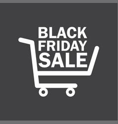 Black friday sale icon shopping cart vector