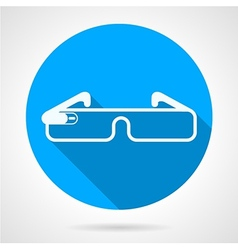Blue icon for smart glasses vector image