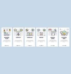 branding website and mobile app onboarding screens vector image