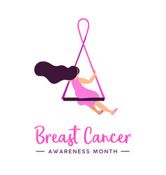 breast cancer awareness concept for hope and love vector image