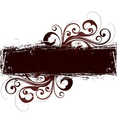 brown floral design vector image