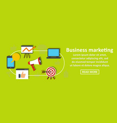 business marketing banner horizontal concept vector image