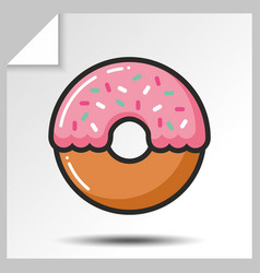 cakes muffins sweets icons 6 vector image
