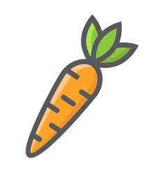 carrot filled outline icon vegetable and food vector image