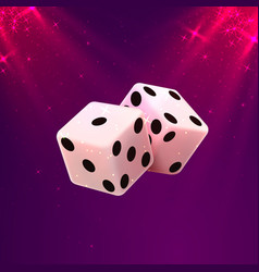 Casino dice on a white background design element vector