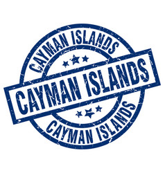 Cayman islands blue round grunge stamp vector