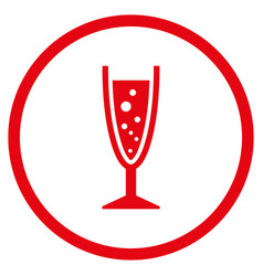 Champagne glass rounded icon vector