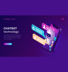 chatbot technology artificial intelligence vector image