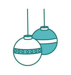 Christmas decorative balls vector