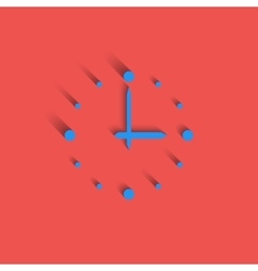 Clock logo modern idea interval time icon red vector image