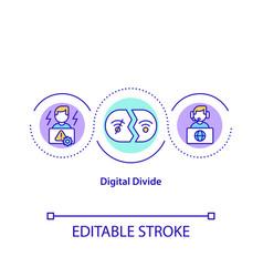Digital divide concept icon vector