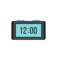 Digital table clock icon flat style vector