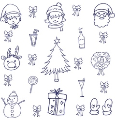 Doodle of christmas with hand draw vector