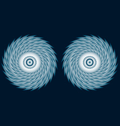 Fantastic hypnotic eyes of a fairy creature vector
