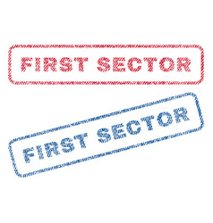 First sector textile stamps vector